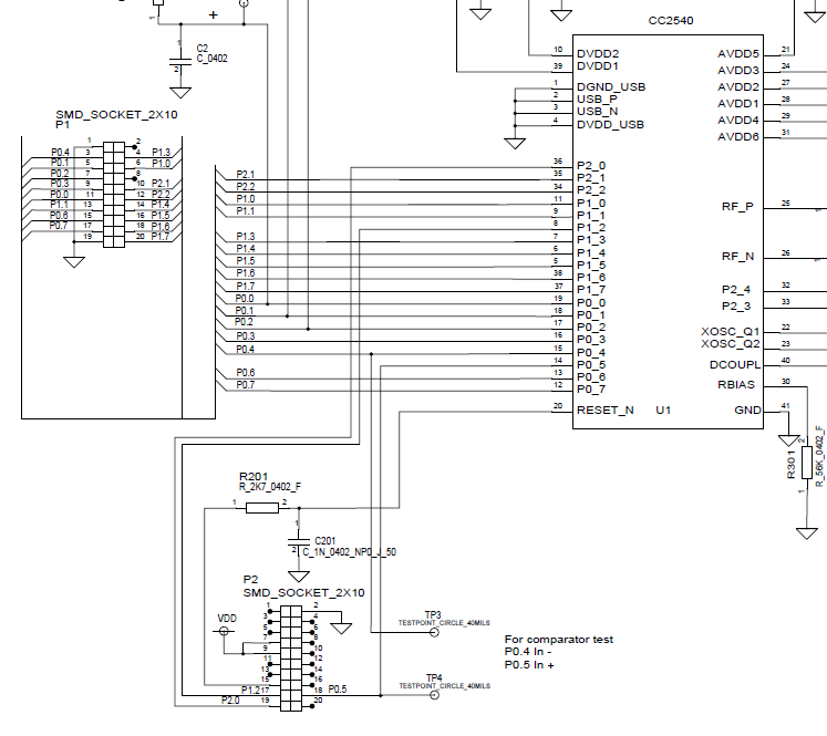 cc2540-pinout-schematic